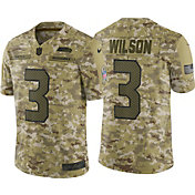 Nike Men's Salute to Service Seattle Seahawks Russell Wilson #3 Camouflage Limited Jersey