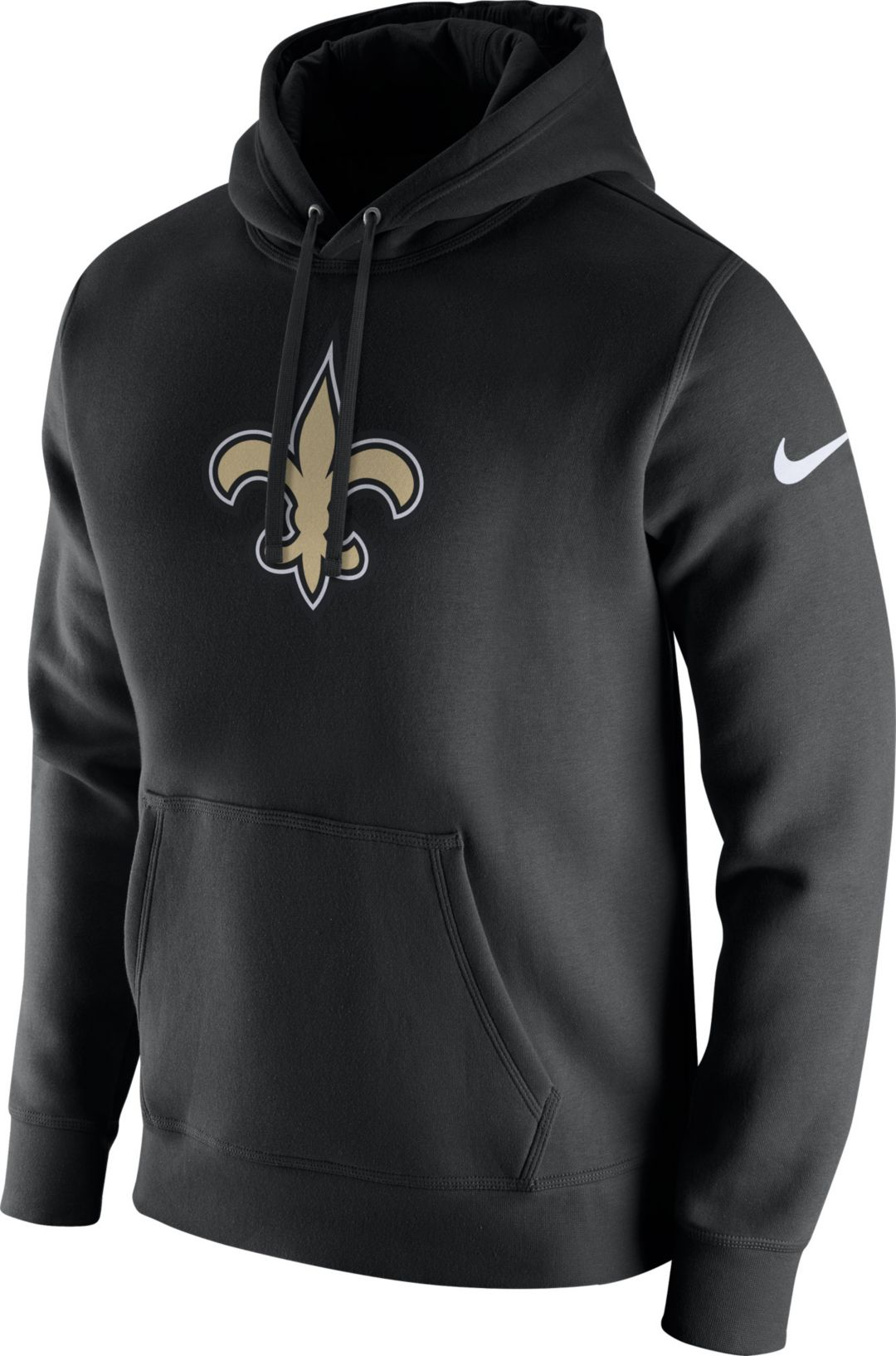 online store bff71 3c099 Nike Men's New Orleans Saints Logo Club Black Hoodie