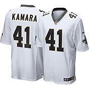 Nike Men's New Orleans Saints Alvin Kamara #41 White Game Jersey