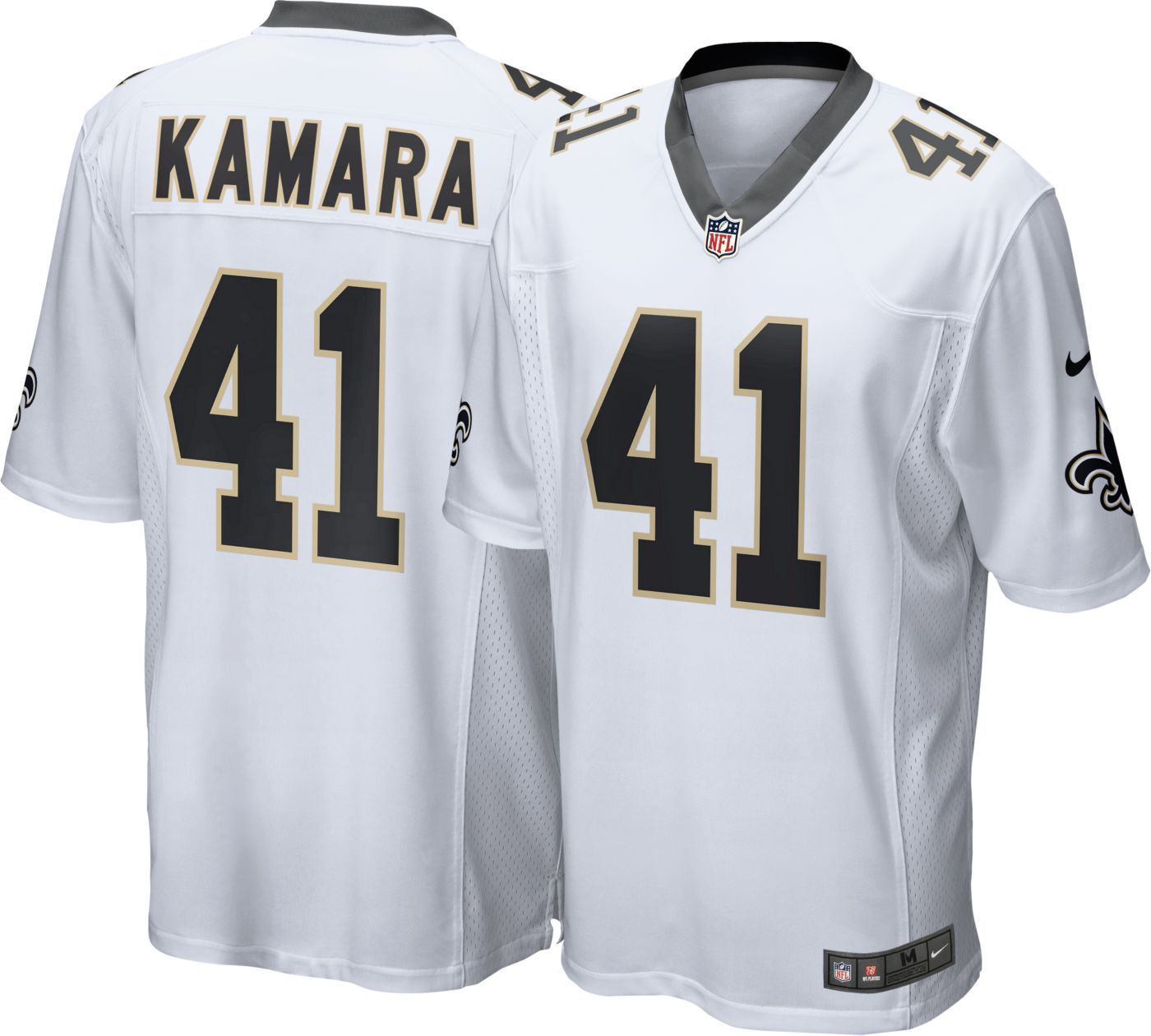 Nike Men's Away Game Jersey New Orleans Saints Alvin Kamara #41