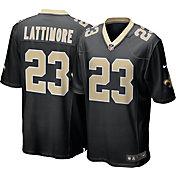 Nike Men's New Orleans Saints Marshon Lattimore #23 Black Game Jersey
