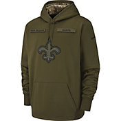 Nike Men's Salute to Service New Orleans Saints Therma-FIT Performance Hoodie