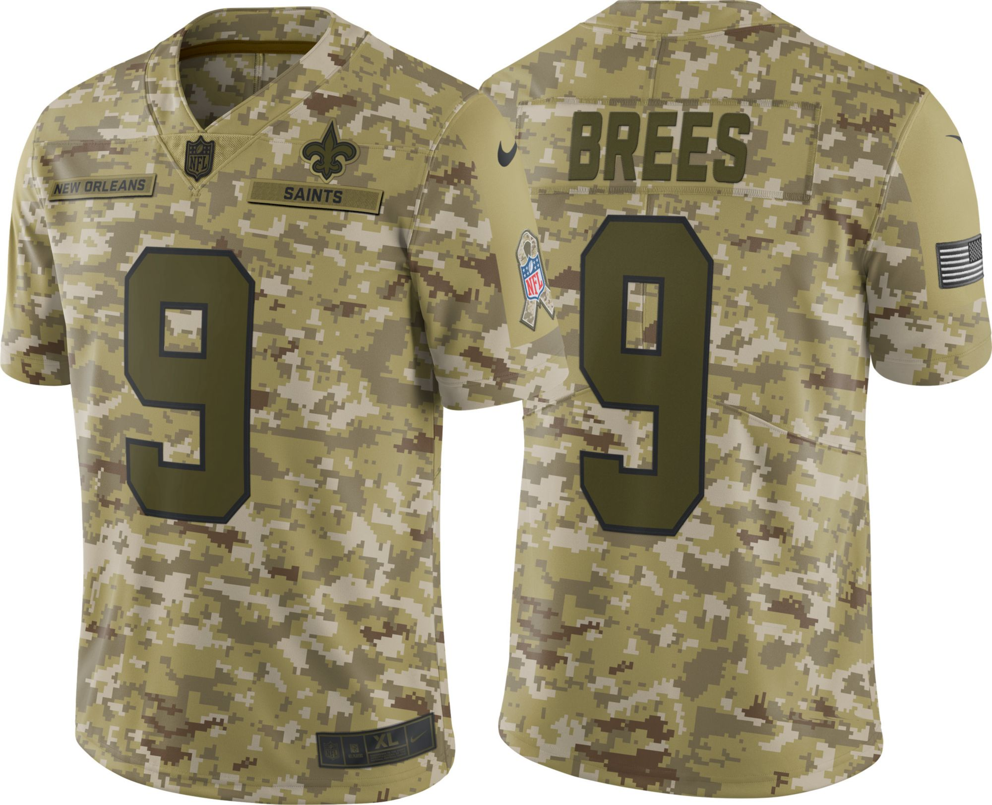 ... where to buy nike mens salute to service new orleans saints drew brees 9  camouflage limited 1d152fb1f