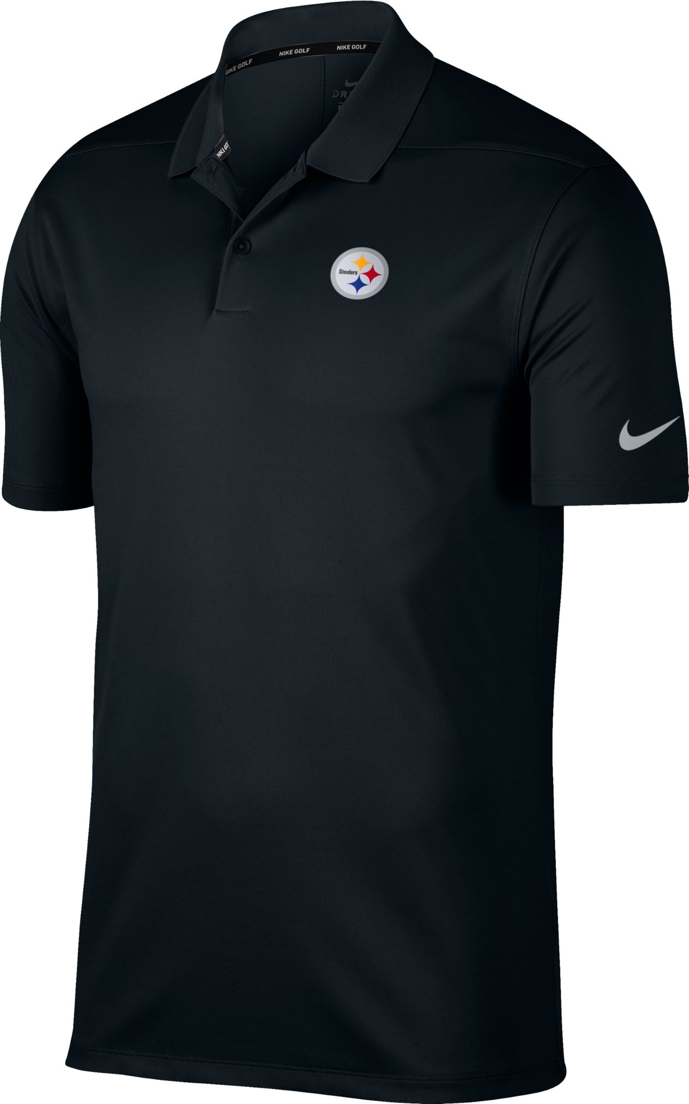 Nike Men's Pittsburgh Steelers Victory Black Golf Polo