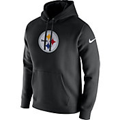 Nike Men's Pittsburgh Steelers Logo Club Black Hoodie