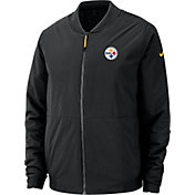 Nike Men's Pittsburgh Steelers Sideline Shield Black Bomber Jacket