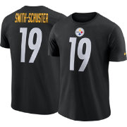 Nike Men's Pittsburgh Steelers JuJu Smith-Schuster #19 Pride Logo Black T-Shirt