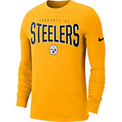 Nike Men's Pittsburgh Steelers Sideline Property Of Long Sleeve Gold Shirt