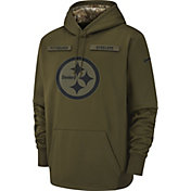 Nike Men's Salute to Service Pittsburgh Steelers Therma-FIT Performance Hoodie