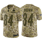Nike Men's Salute to Service Pittsburgh Steelers Antonio Brown #84 Camouflage Limited Jersey