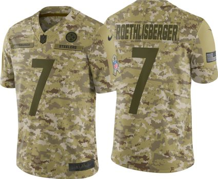 471c29e11 Nike Men s Salute to Service Pittsburgh Steelers Ben Roethlisberger  7 Limited  Camouflage Jersey
