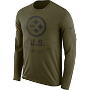 Nike Men's Salute to Service Pittsburgh Steelers Legend Performance Long Sleeve Shirt