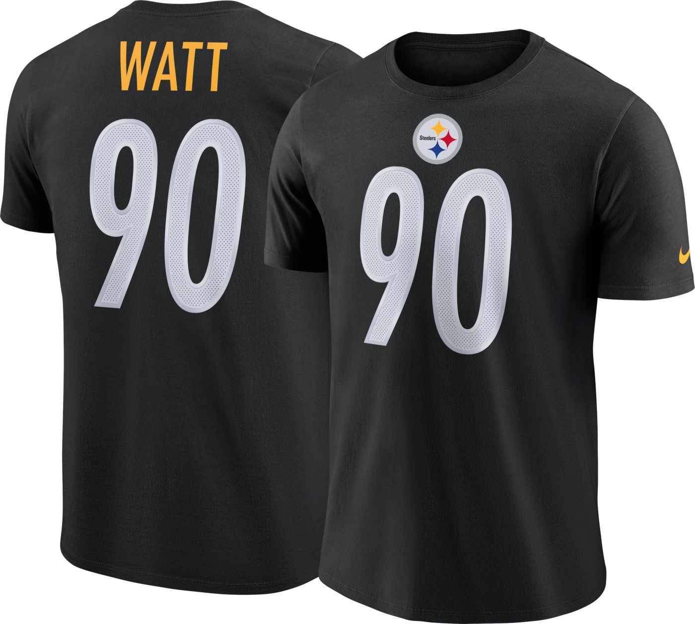 Nike Men's Pittsburgh Steelers T.J. Watt #90 Legend Black T-Shirt