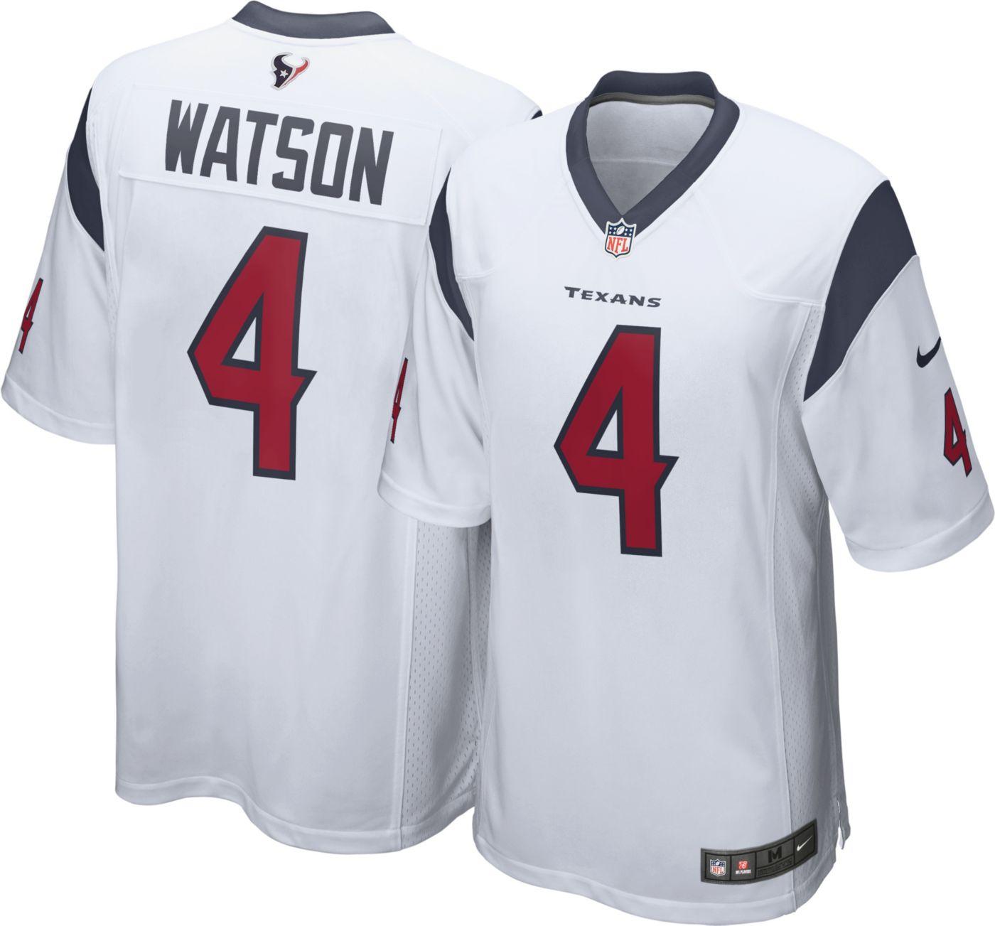 Nike Men's Away Game Jersey Houston Texans Deshaun Watson #4