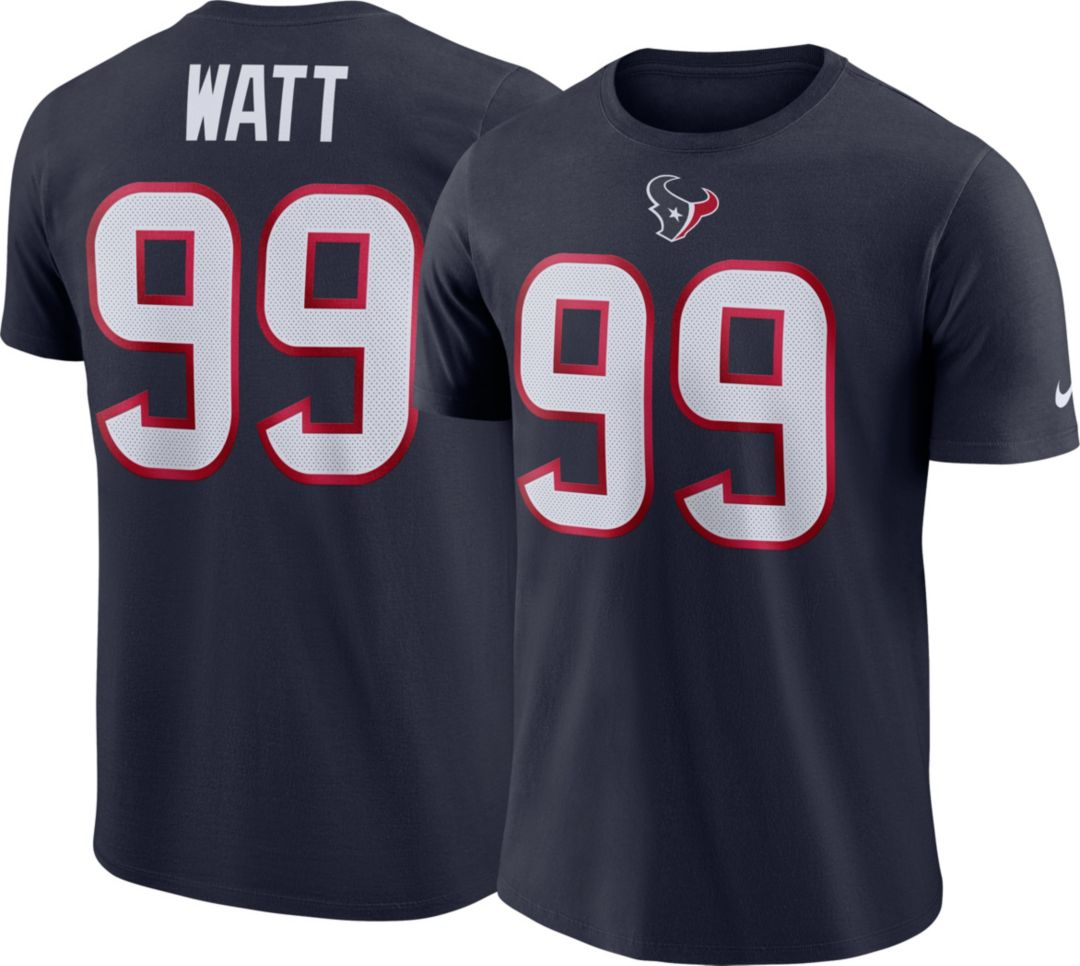 buy popular 752c9 c31d7 Nike Men's Houston Texans J.J. Watt #99 Pride Logo Navy T-Shirt