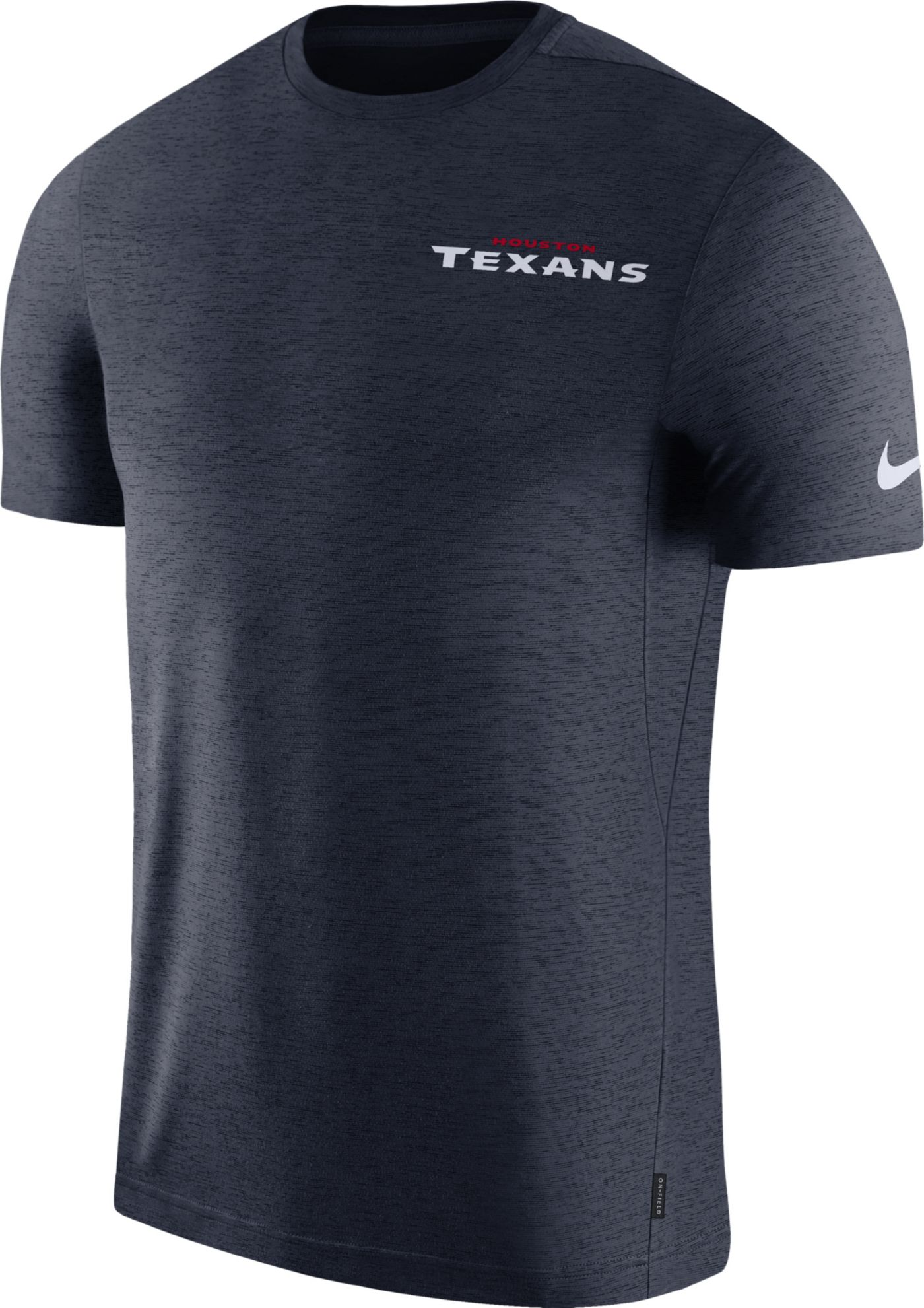 Nike Men's Houston Texans Sideline Coach Performance Navy T-Shirt