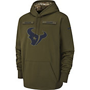 Nike Men's Salute to Service Houston Texans Therma-FIT Performance Hoodie