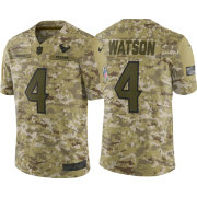Nike Men's Salute to Service Houston Texans Deshaun Watson #4 Camouflage Limited Jersey