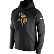 Nike Men's Minnesota Vikings Logo Club Black Hoodie