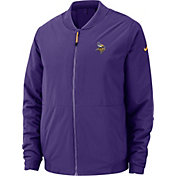 Nike Men's Minnesota Vikings Sideline Shield Purple Bomber Jacket