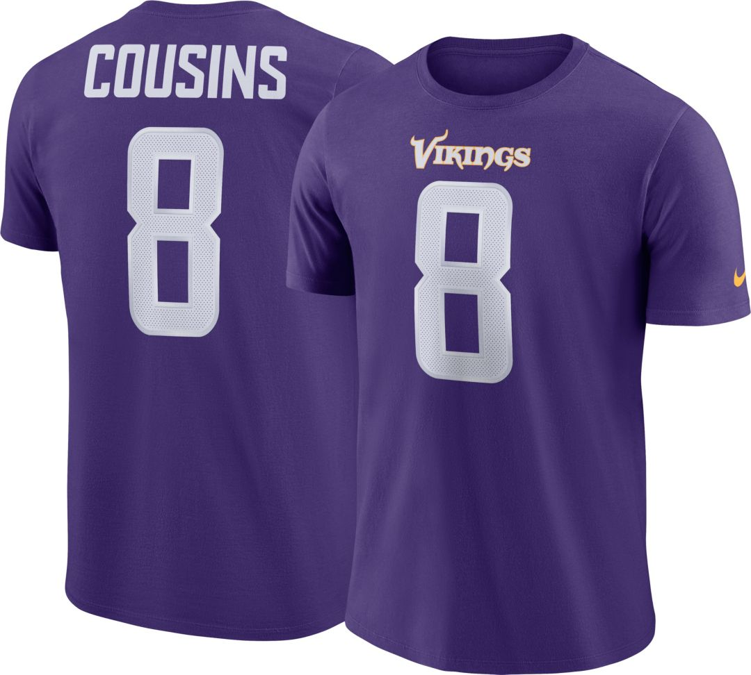 save off 4eac1 5954e Nike Men's Minnesota Vikings Kirk Cousins #8 Pride Purple T-Shirt