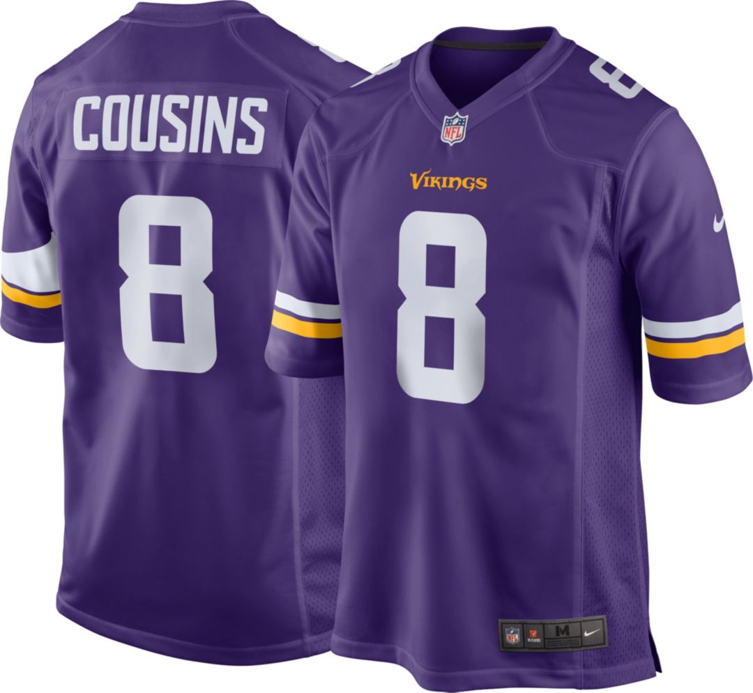 wholesale dealer af917 dafc5 Minnesota Vikings Kirk Cousins #8 Nike Men's Home Game Jersey