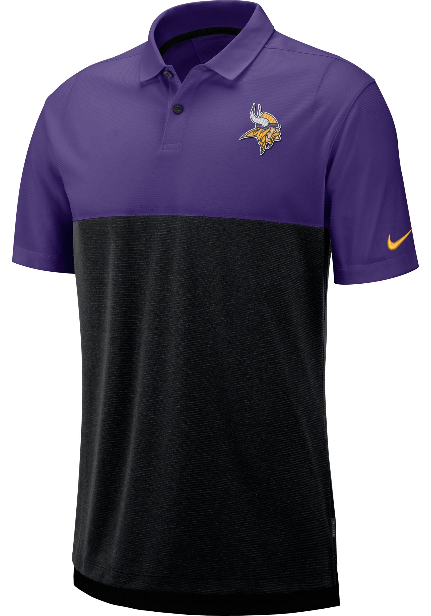 Nike Men's Minnesota Vikings Sideline Early Season Purple Polo