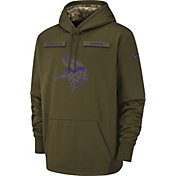 Nike Men's Salute to Service Minnesota Vikings Therma-FIT Performance Hoodie