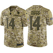 Nike Men's Salute to Service Minnesota Vikings Stefon Diggs #14 Camouflage Limited Jersey
