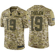 Nike Men's Salute to Service Minnesota Vikings Adam Thielen #19 Camouflage Limited Jersey