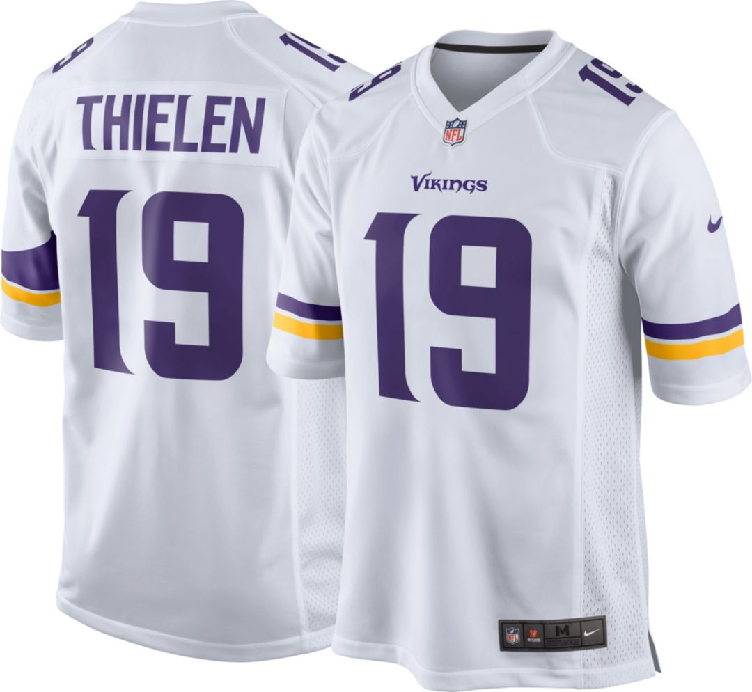 the best attitude 67efe 7ec3b Nike Men's Away Game Jersey Minnesota Vikings Adam Thielen #19