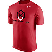Nike Men's Washington Capitals Alex Ovechkin Logo Red Performance T-Shirt