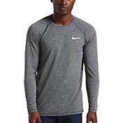 Nike Men's Heather Long Sleeve Rash Guard