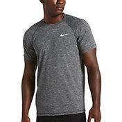 Nike Men's Heather Solid Short Sleeve Hydro Rash Guard