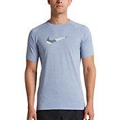 Nike Men's Heather Mash Up Short Sleeve Rash Guard