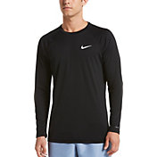 Nike Men's Solid Long Sleeve Rash Guard