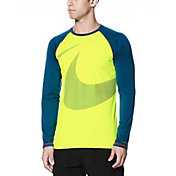 Nike Men's Macro Swoosh Long Sleeve Hydro Rash Guard
