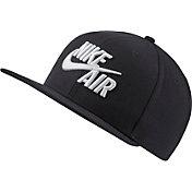 Nike Men's Sportswear Pro Air Classic Snapback Hat in Black/White