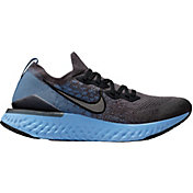 Nike Men's Epic React Flyknit 2 Running Shoes in Grey/Black/Blue