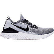 ddfe27208fbf7 Product Image · Nike Men s Epic React Flyknit 2 Running Shoes in White Black