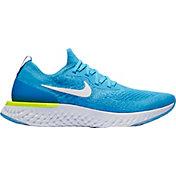 Nike Men's Epic React Flyknit Running Shoes in Blue Glow/White