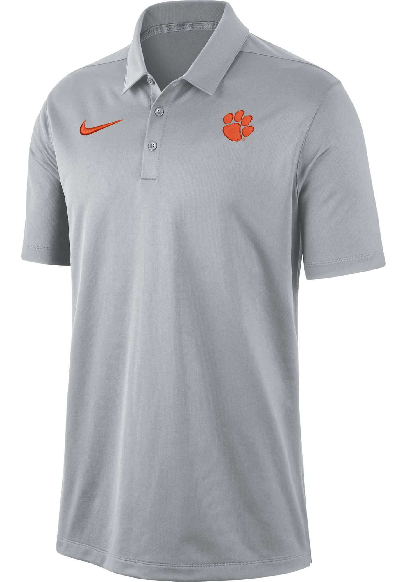 Nike Men's Clemson Tigers Grey Dri-FIT Franchise Polo