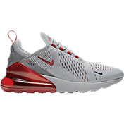 Nike Men's Air Max 270 Shoes in Grey/Red