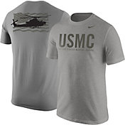 Nike United States Marine Corps Grey Helicopter Short Sleeve T-Shirt
