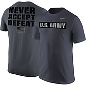 Nike United States Army Grey 'Never Accept Defeat' Short Sleeve T-Shirt