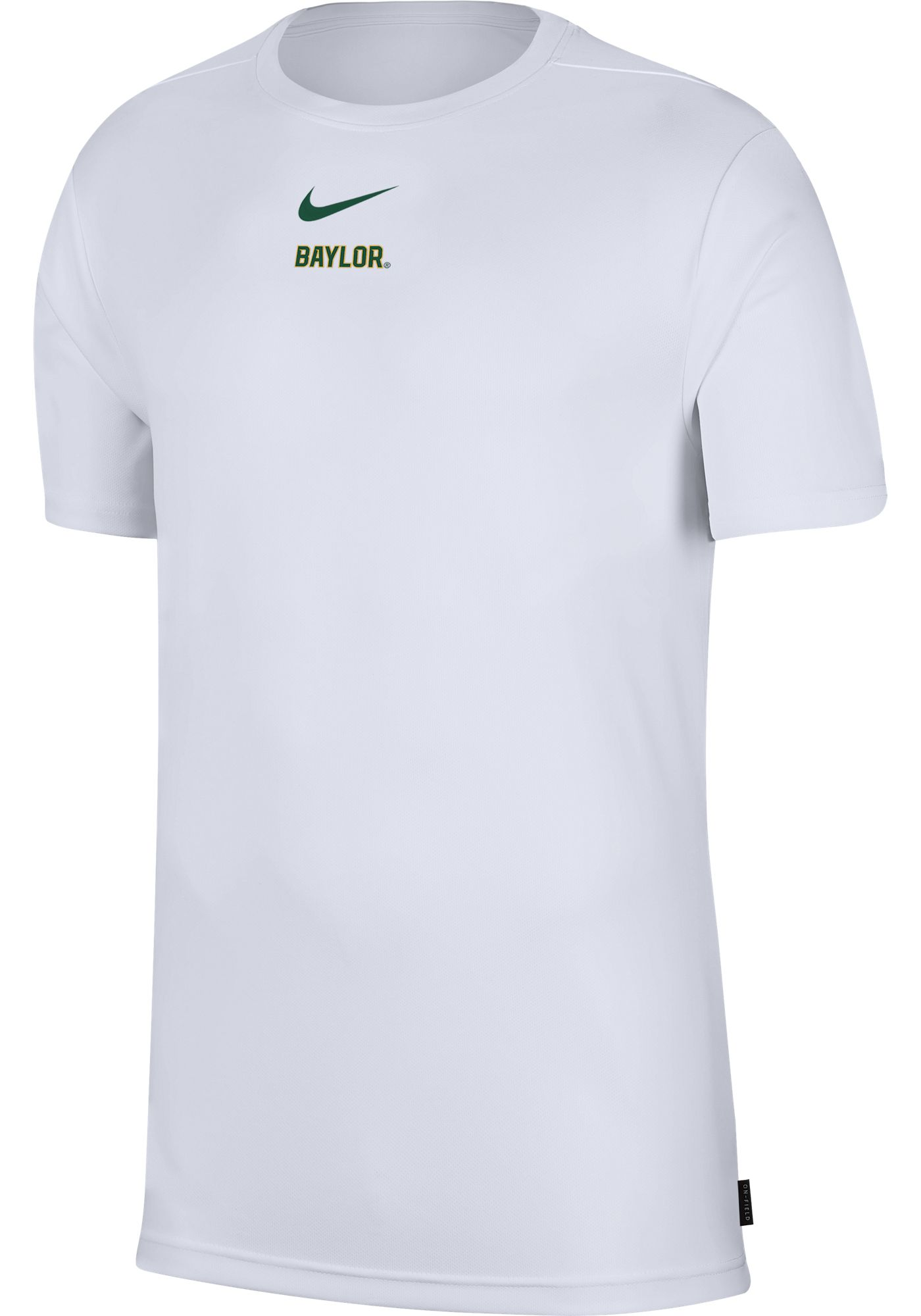 Nike Men's Baylor Bears Dri-FIT Coach UV Football White T-Shirt