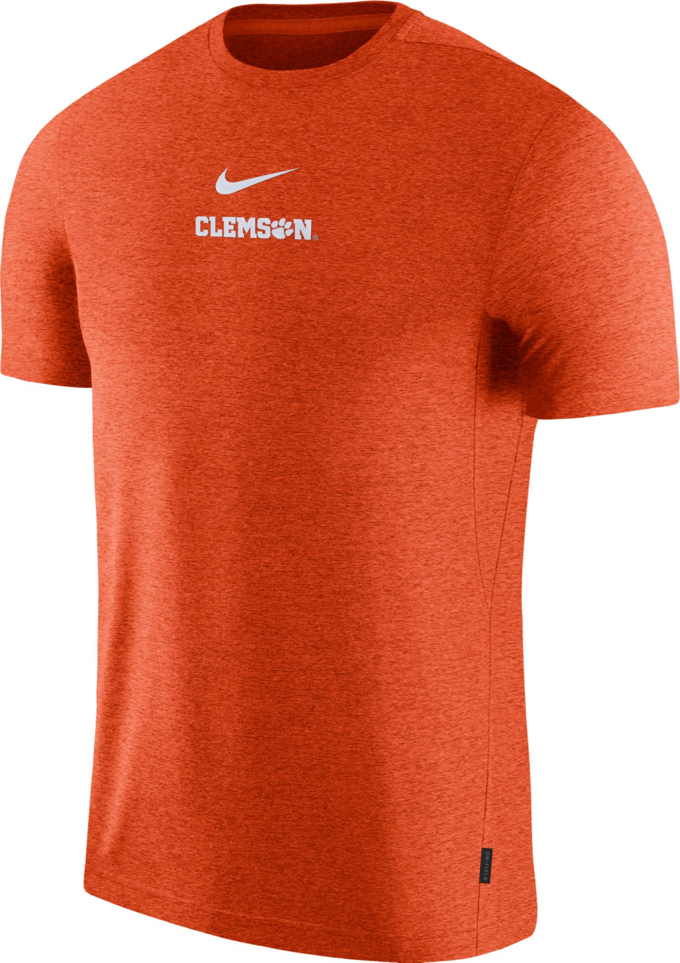Nike Men's Clemson Tigers Orange Dri-FIT Coach UV Football T-Shirt