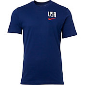 Nike Men's 2019 FIFA Women's World Cup USA Soccer Pride Crest Blue T-Shirt