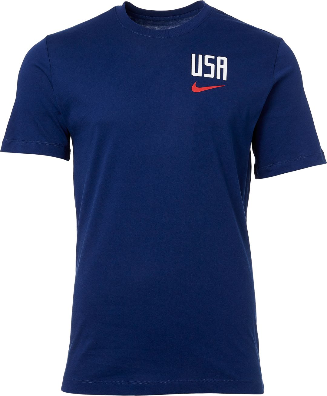 e945f0fa0 Nike Men's 2019 FIFA Women's World Cup USA Soccer Pride Crest Blue T-Shirt
