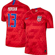 Nike Men's 2019 FIFA Women's World Cup USA Soccer Alex Morgan #13 Breathe Stadium Away Replica Jersey